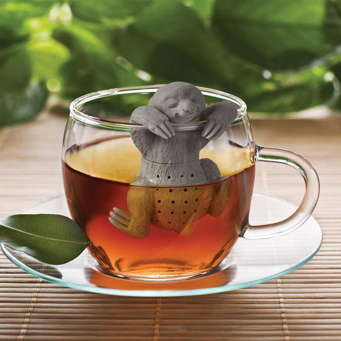 Slow Brew Sloth Tea Strainer & Infuser | Fred - - Fred & Friends - Yellow Octopus