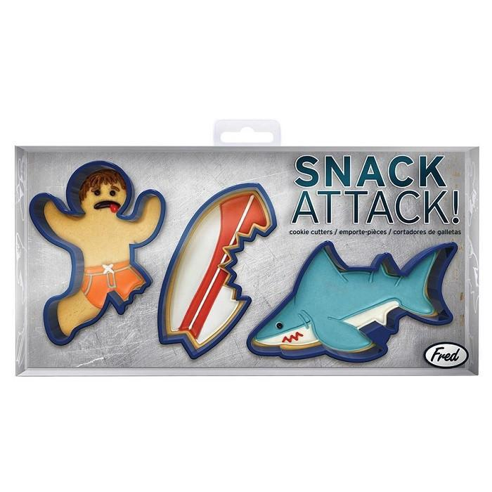 Snack Shark Attack Cookie Cutters | by Fred - - Fred & Friends - Yellow Octopus