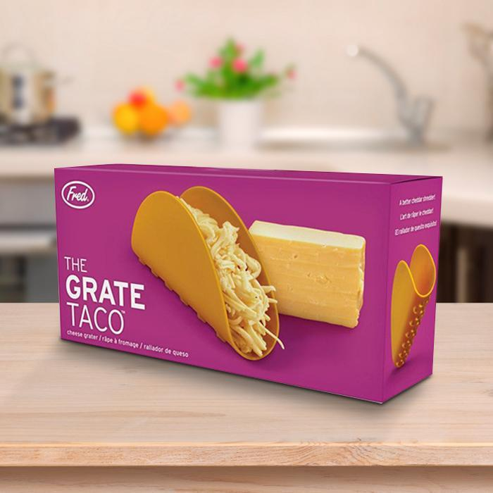 The Grate Taco Cheese Grater - - Fred & Friends - Yellow Octopus