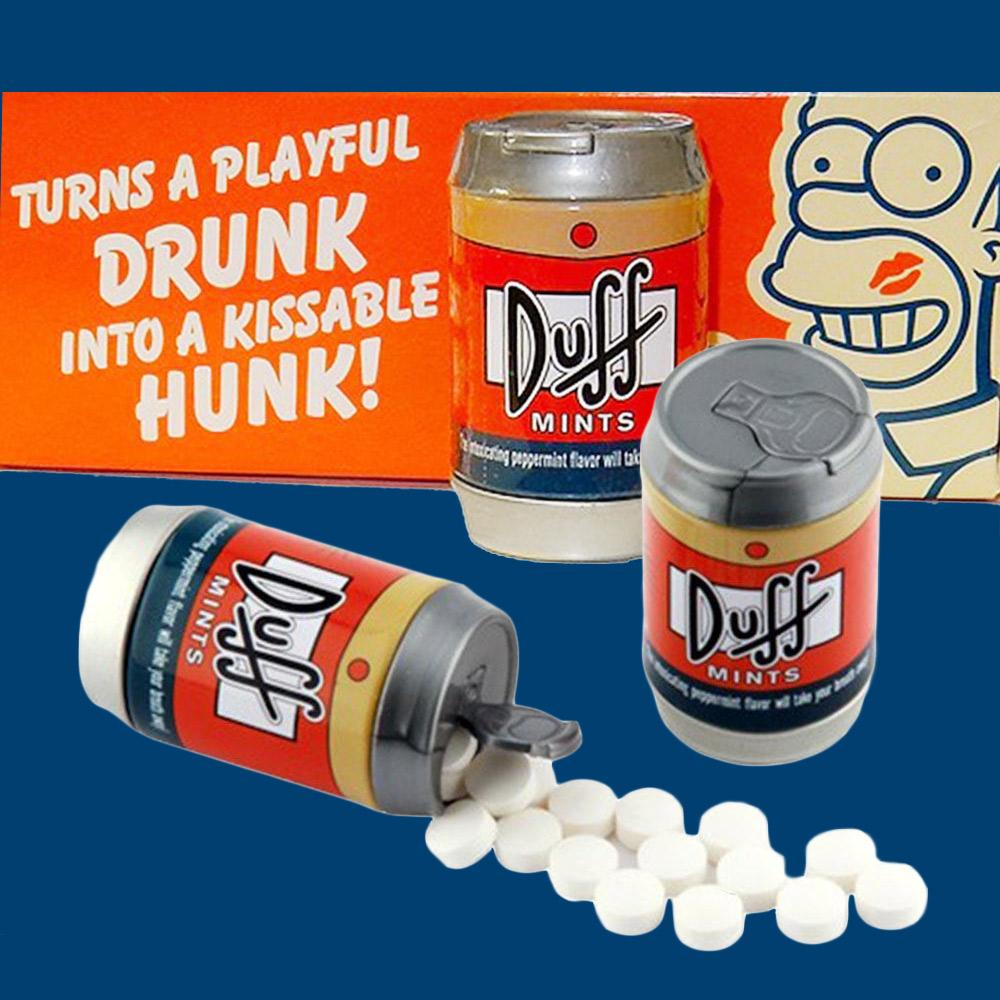 The Simpsons Duff Beer Can Mints - - The Simpsons - Yellow Octopus