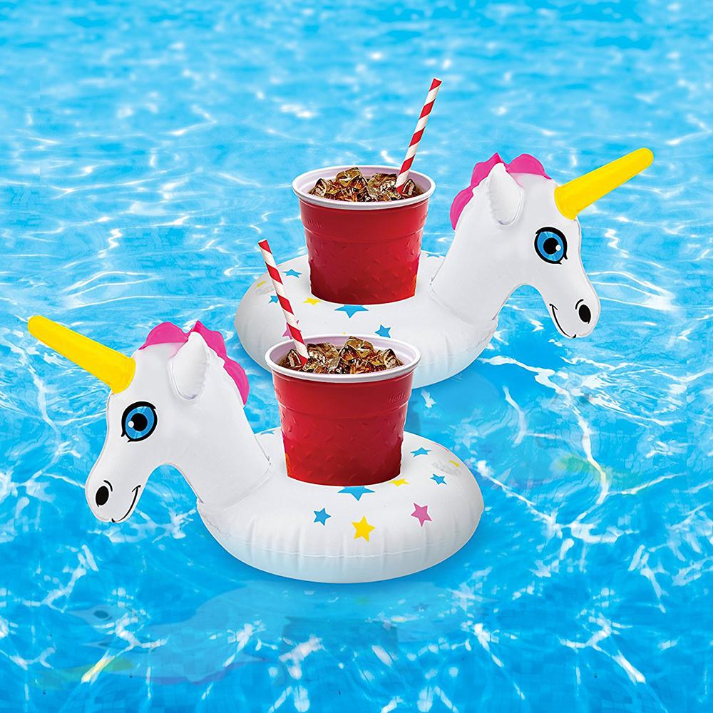 Unicorn Pool Party Floating Beverage Boats