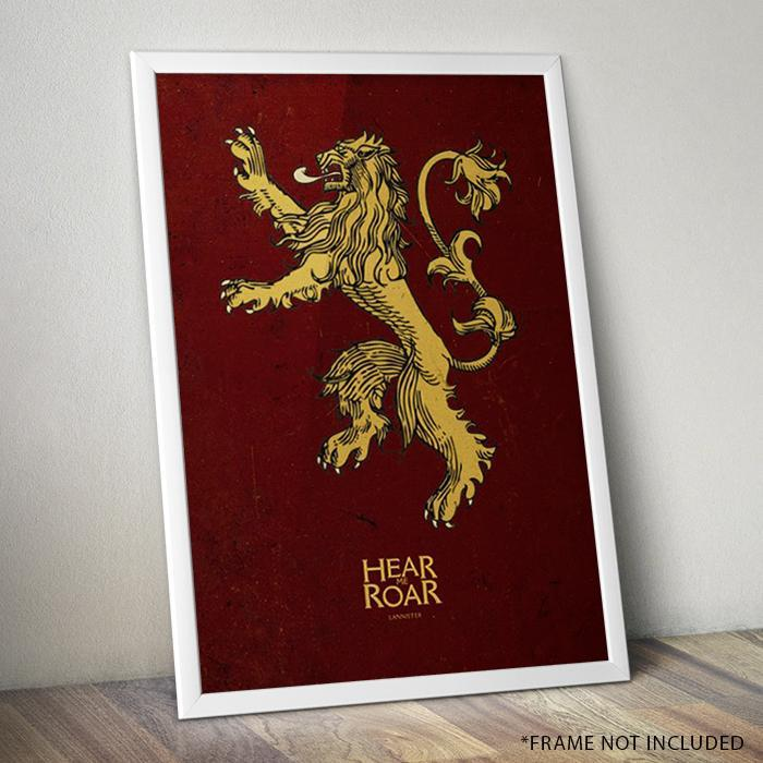 Game of Thrones Game of Thrones Lannister Sigil Art Print 60 x 80cm