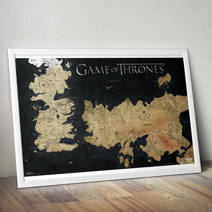 Game of Thrones Westeros Map Poster 61 x 91cm - - Game of Thrones - Yellow Octopus