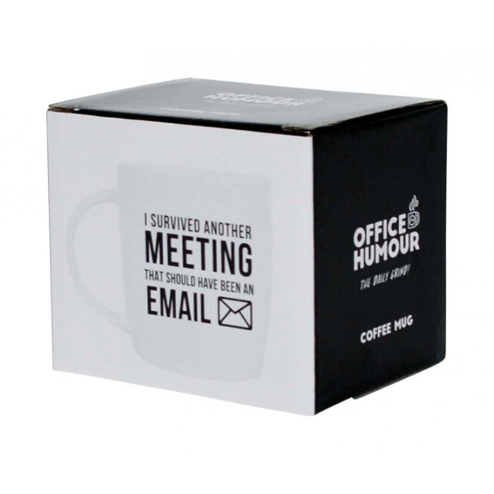 I Survived Another Meeting Office Mug - - Annabel Trends - Yellow Octopus