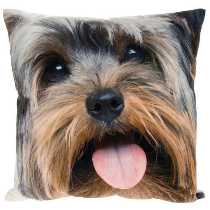 Visage Yorkie Dog Cushion | 44cm - - Gibson - Yellow Octopus