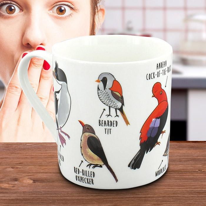 Fowl Language Mug - - Ginger Fox - Yellow Octopus