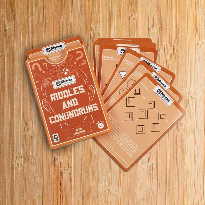 Ginger Fox Playing Cards By Mensa - Riddles And Conundrums