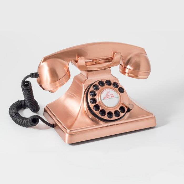 GPO 200 Retro Rotary Dial Telephone - Copper - - GPO - Yellow Octopus