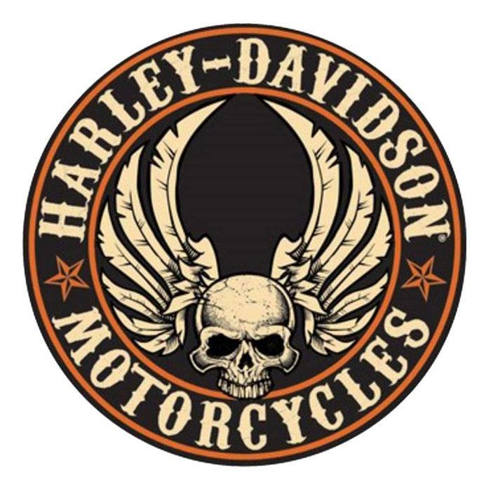 Harley Davidson Official Harley Davidson Embossed Flying Skull Sign