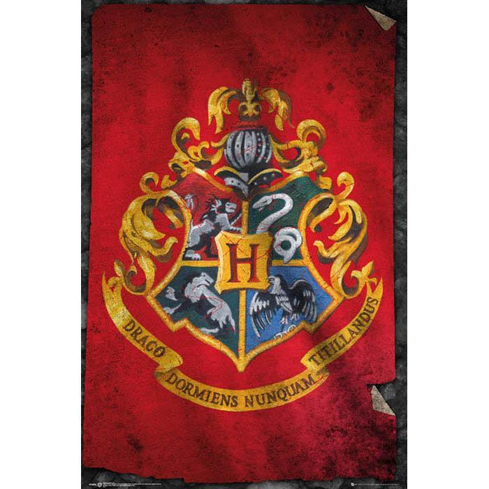 Harry Potter Harry Potter Hogwarts Flag Poster 61 x 91cm
