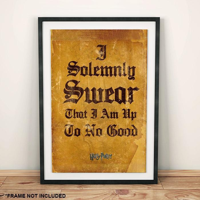 Harry Potter Marauder's Map I Solemnly Swear Poster 40 x 50 cm - - Harry Potter - Yellow Octopus