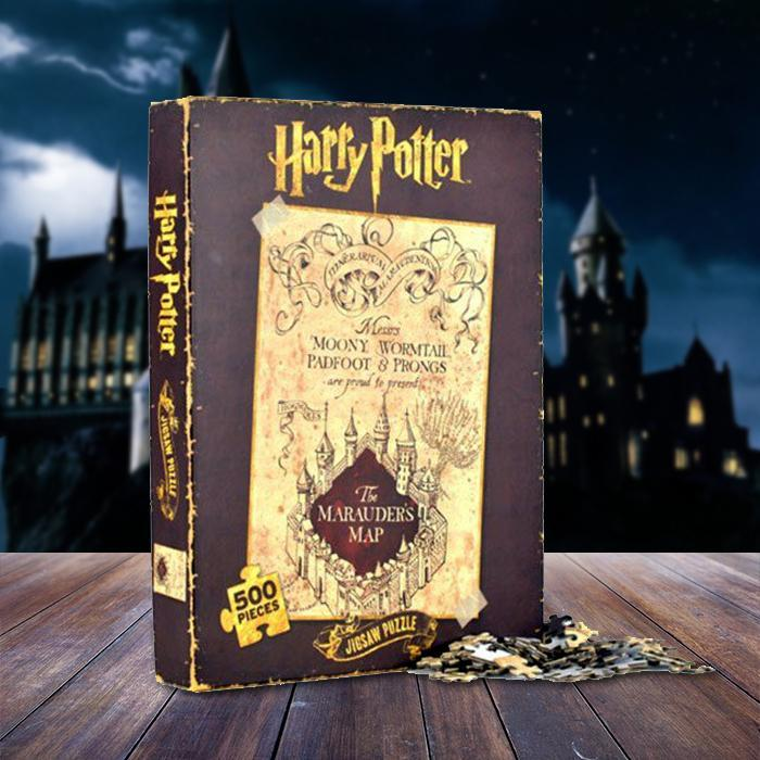 Harry Potter Marauders Map 500 Pieces Jigsaw Puzzle - - Harry Potter - Yellow Octopus