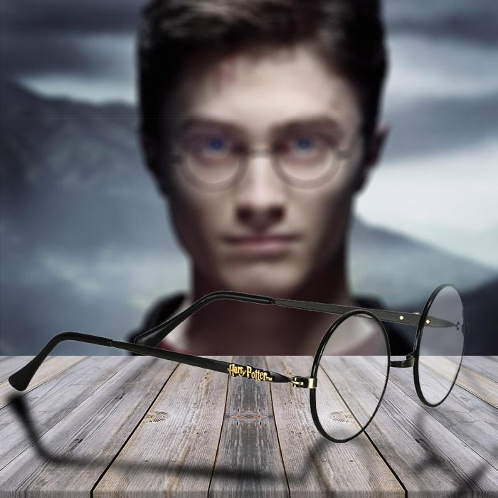 cc0e4a78aa Harry Potter Metal Frame Glasses with Gold Harry Potter Logo ...