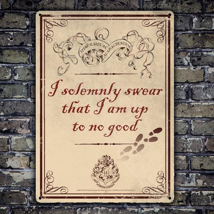 Harry Potter Harry Potter Sign - I Solemnly Swear I Am Up To No Good