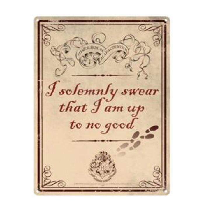 Harry Potter Sign - I Solemnly Swear I Am Up To No Good - - Harry Potter - Yellow Octopus