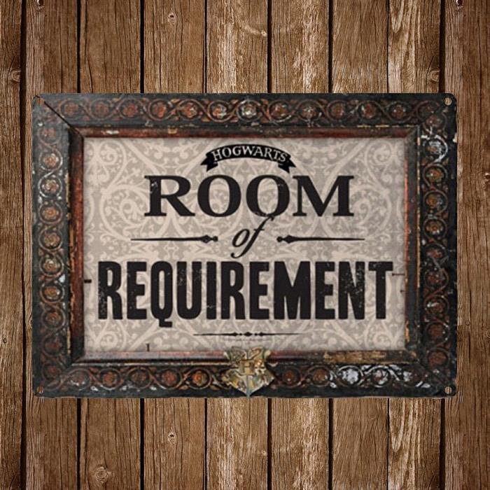 Harry Potter Hogwarts Room Of Requirement Tin Sign