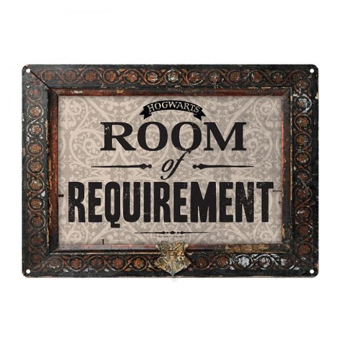 Hogwarts Room Of Requirement Tin Sign - - Harry Potter - Yellow Octopus