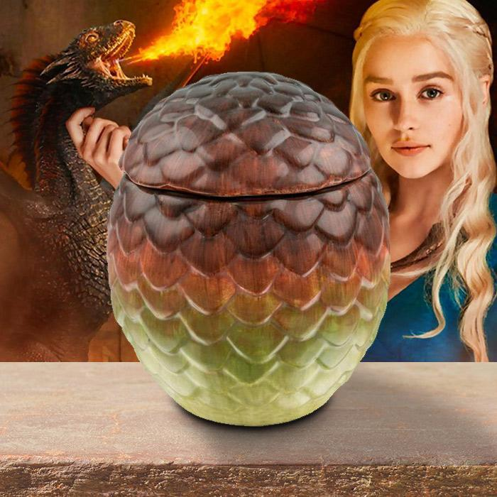 Game of Thrones Ceramic Dragon Egg Cookie Jar 15.5cm - - HBO - Yellow Octopus