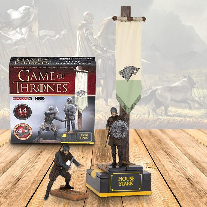 HBO Game of Thrones Stark & Lannister Banner Men Packs Stark