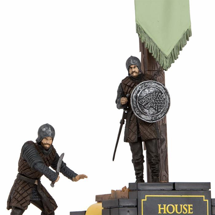 Game of Thrones Stark & Lannister Banner Construction Set - Stark - HBO - Yellow Octopus