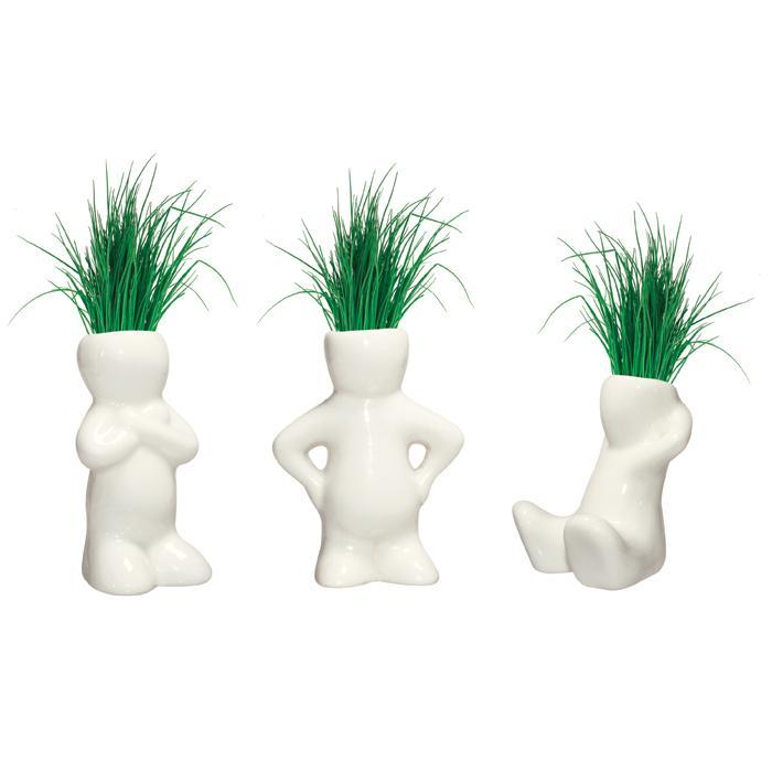 Lil Dude Pint Sized Planters - Set Of 3 - - Heebie Jeebies - Yellow Octopus