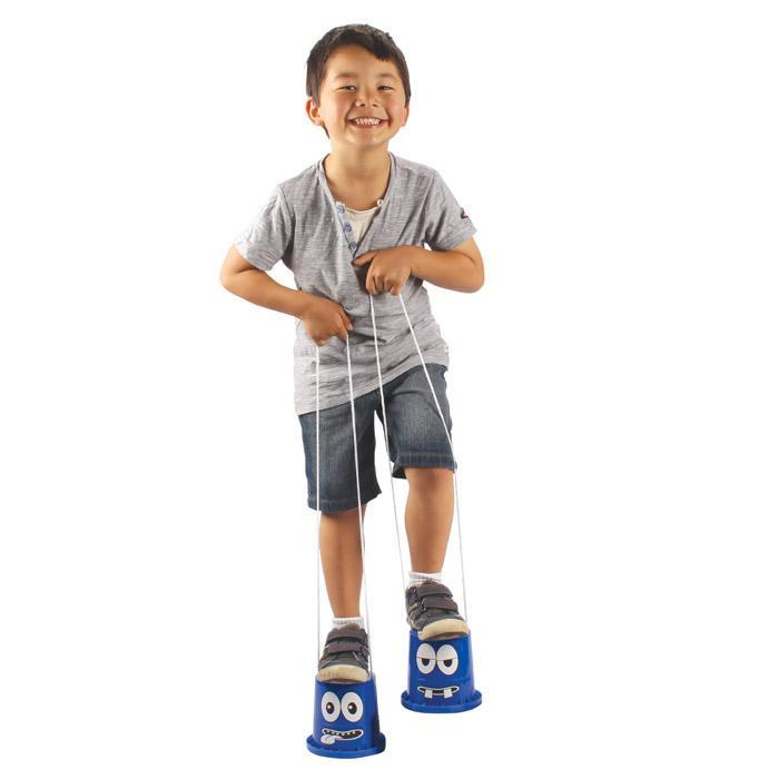 Heebie Jeebies Monster Stompers Bucket Stilts Blue