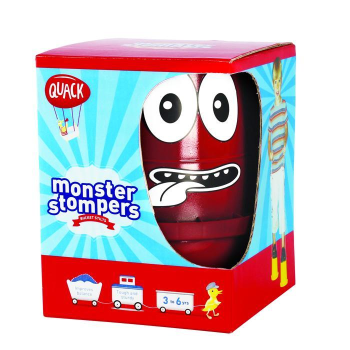 Heebie Jeebies Monster Stompers Bucket Stilts Red