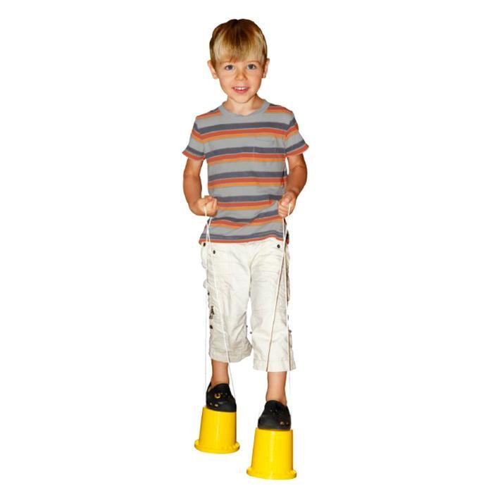 Heebie Jeebies Monster Stompers Bucket Stilts Yellow