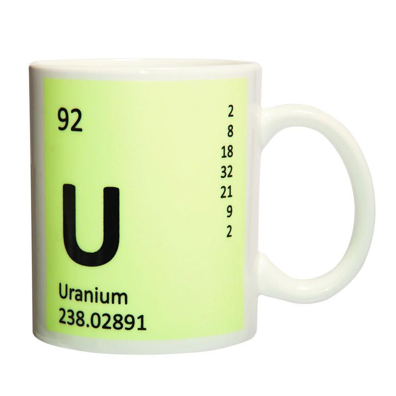 Uranium Element Mug - Glows in The Dark - - Heebie Jeebies - Yellow Octopus