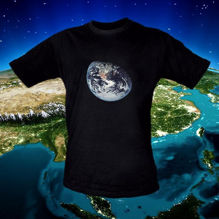 Earth From Space Mens T-Shirt