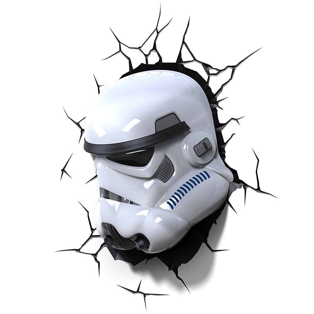 Star Wars Stormtrooper Helmet 3D Light Wall Art - - Star Wars - Yellow Octopus