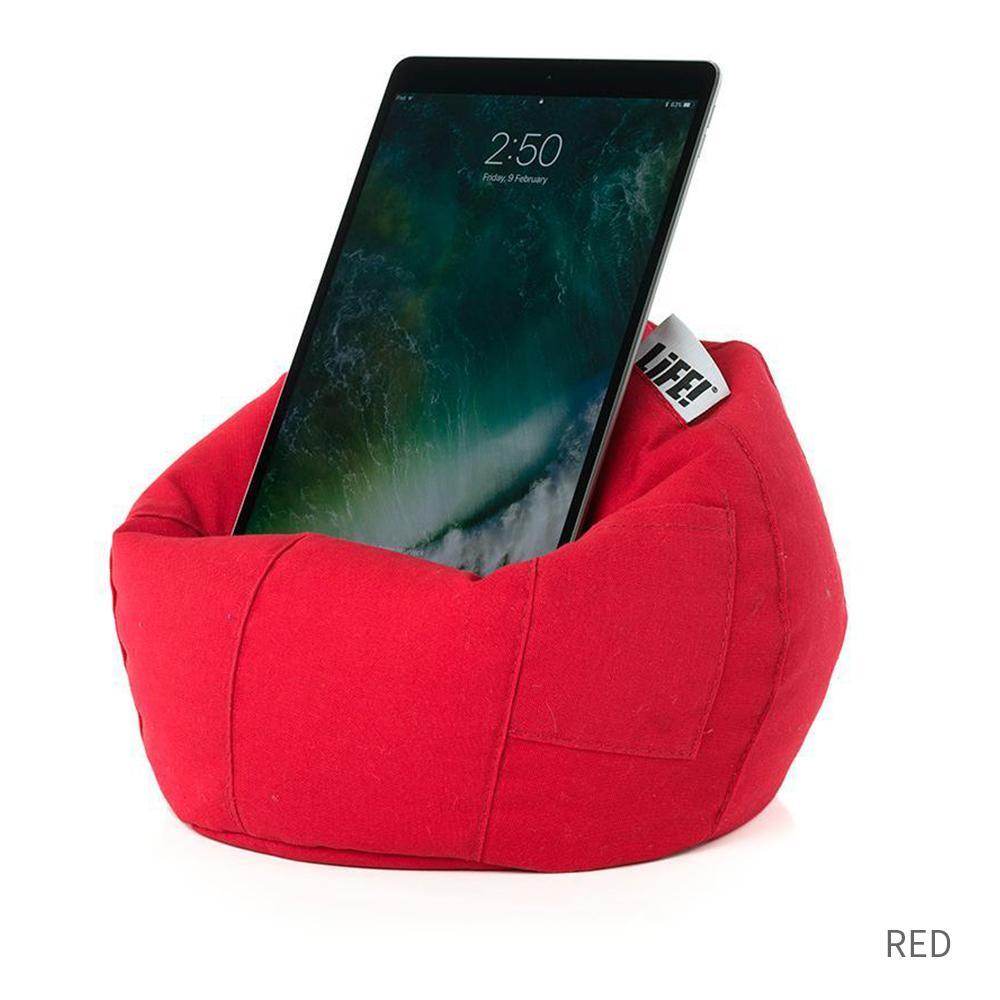 iCrib Tablet Bean Bag Pillow - Red - SlumberTrek - Yellow Octopus