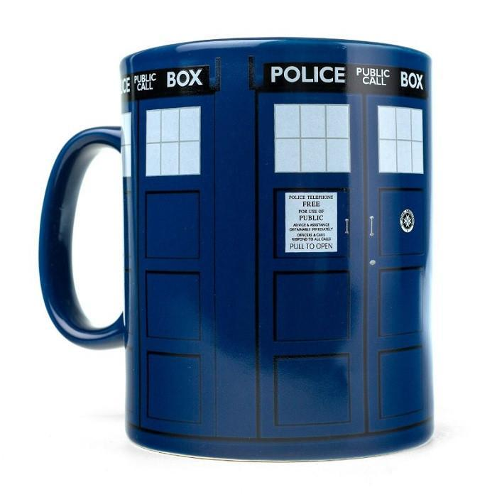 Doctor Who Tardis Giant Mega Mug - - Ikon - Yellow Octopus
