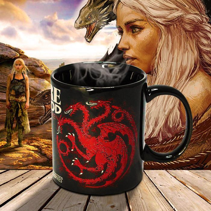 Game of Thrones Fire and Blood Targaryen House Mug - - Ikon - Yellow Octopus