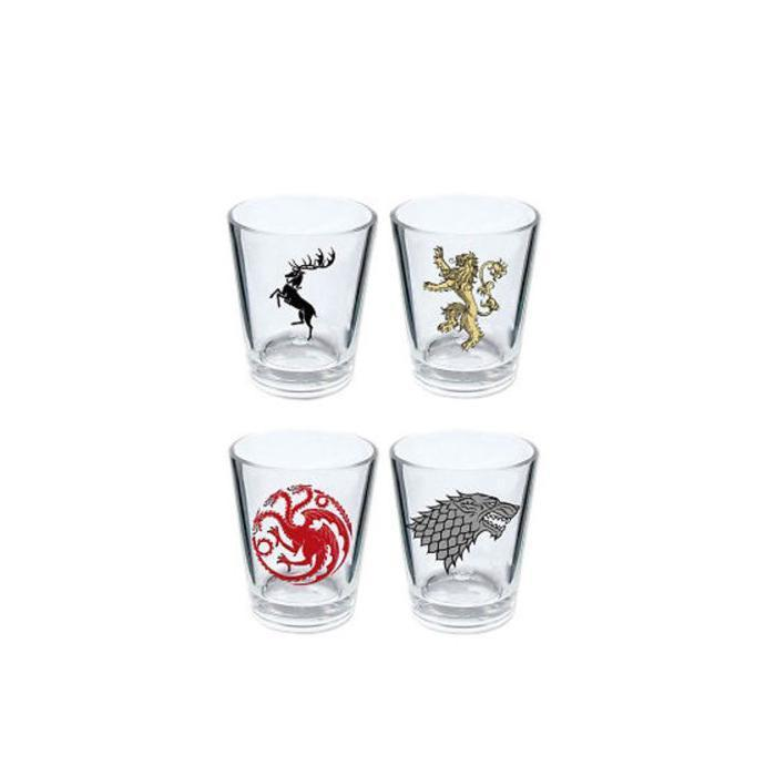 Ikon Game Of Thrones - Set of 4 House Sigil Shot Glasses