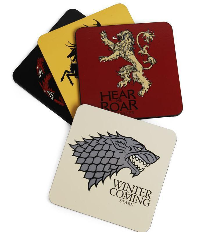 Ikon Game Of Thrones - Set of 4 Sigil Coasters Set