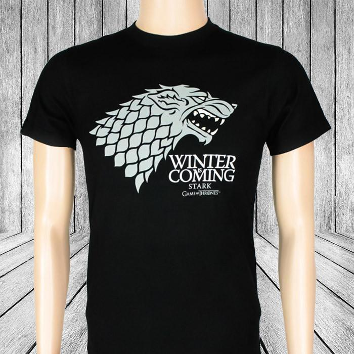 Game of Thrones Stark Winter is Coming T-Shirt - Ladies Small - Ikon - Yellow Octopus