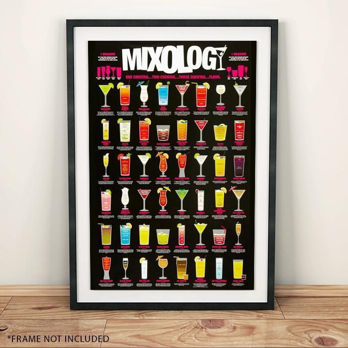 Drink Mixology Cocktail Poster 61 x 91cm - - Impact Posters - Yellow Octopus