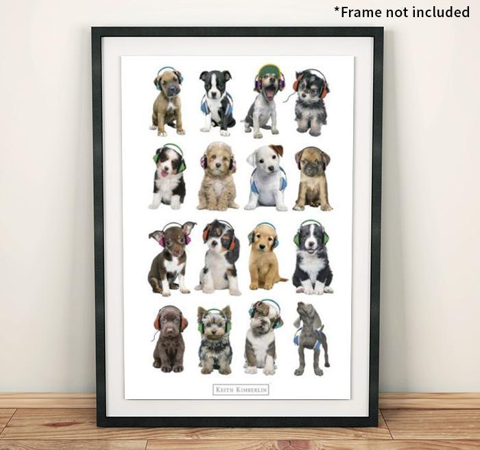 Keith Kimberlain Dogs Poster 61 x 91.5cms - - Impact Posters - Yellow Octopus
