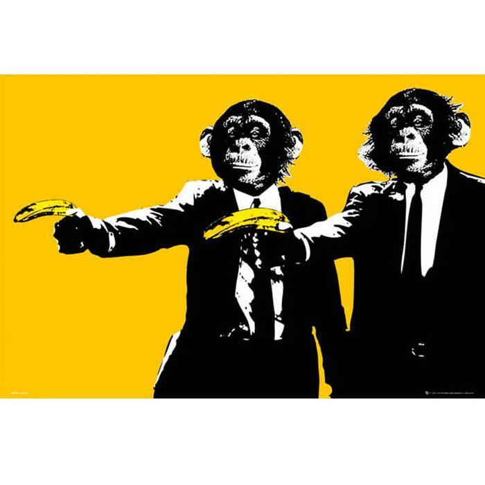 Pulp Fiction Apes Poster 91 x 61cm - - Impact Posters - Yellow Octopus