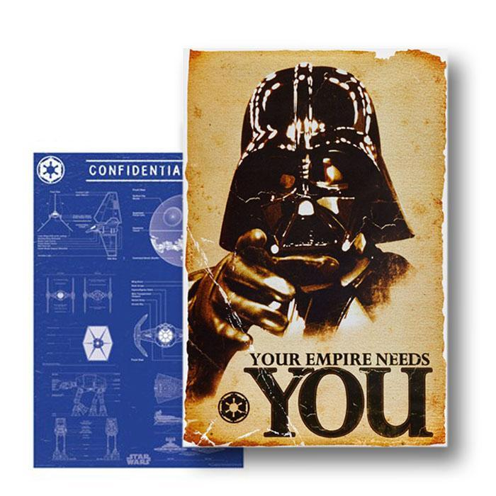 Star Wars Darth Vader Double-Sided Poster 61 x 91cm - - Impact Posters - Yellow Octopus