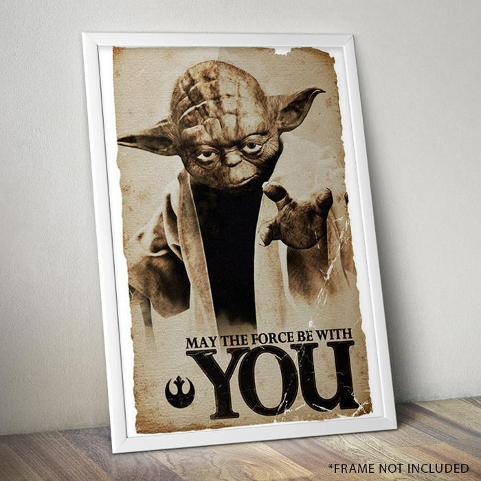 Star Wars Yoda Poster 61 x 91cm - - Impact Posters - Yellow Octopus