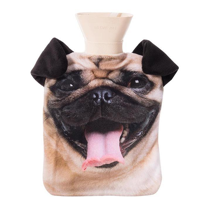 Cats & Dogs Hot Water Bottles - Pug - IS - Yellow Octopus