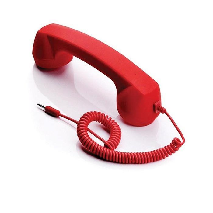 Call Me Retro Phone Handset - Red - - IS - Yellow Octopus