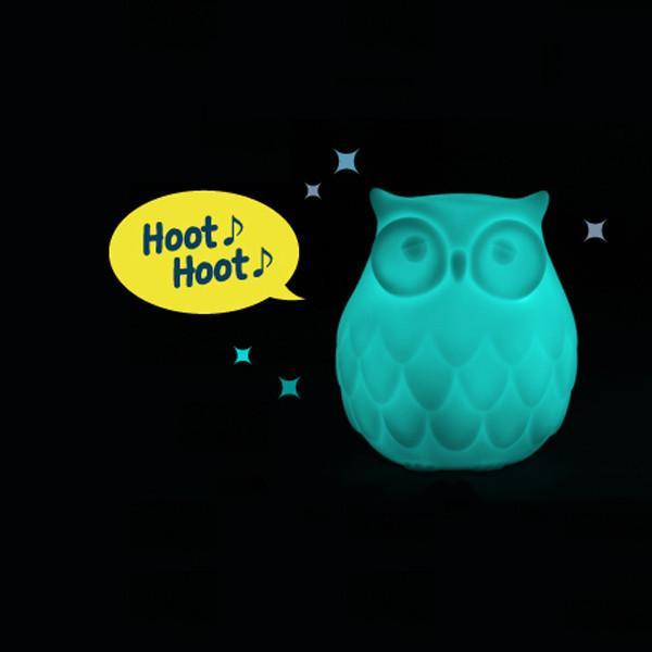 Designer LED Owl Night Light With Sound & Sensor - - IS - Yellow Octopus