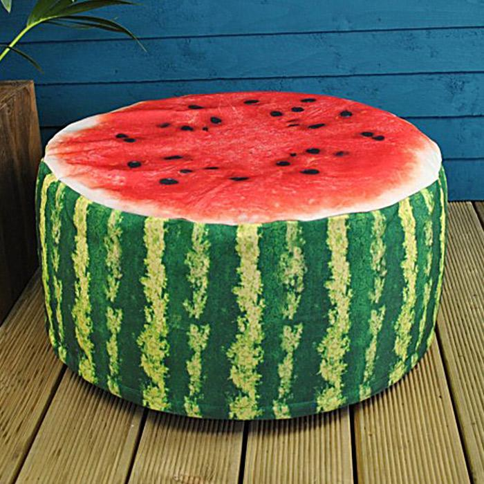 Inflatable Watermelon Foot Rest Seat - - IS - Yellow Octopus
