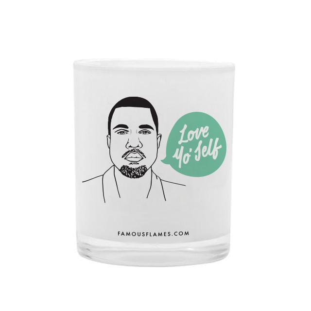 Kan-Yay Love Yo' Self Vanilla Scented Candle - - Famous Flames - Yellow Octopus