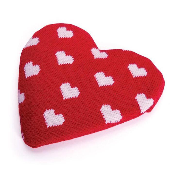Love Heart Reusable Heat Pack with Knitted Cover - - IS - Yellow Octopus
