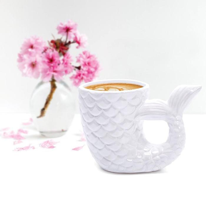 Pearlescent Mermaid Tail Mug - - IS - Yellow Octopus