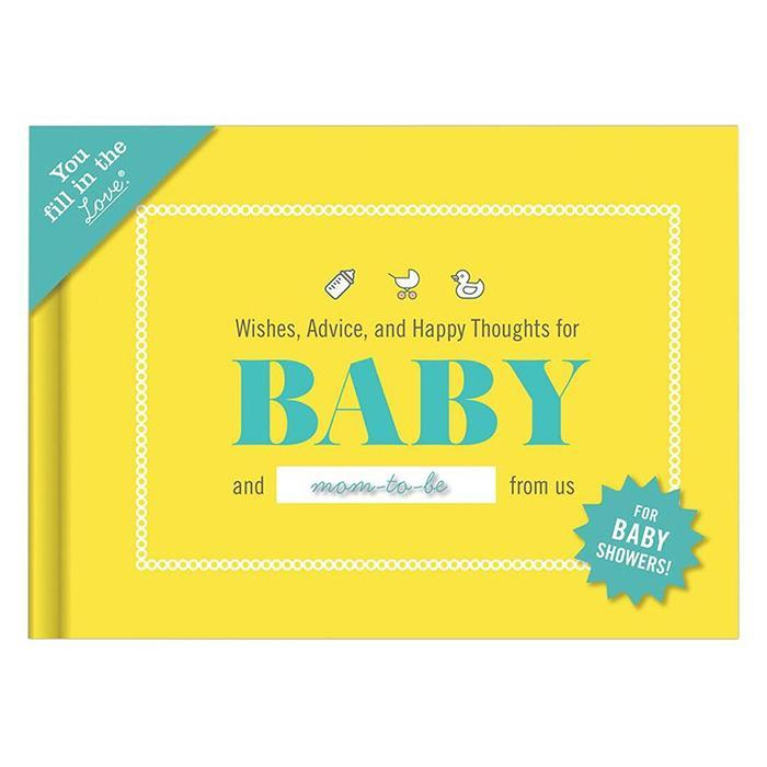 Personalisable Baby Shower Journal - - IS - Yellow Octopus
